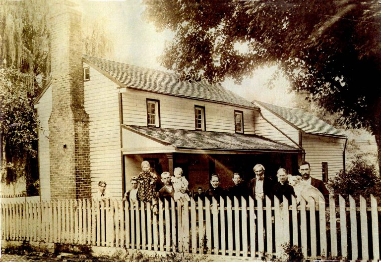The Reynolds Family at the existing farmhouse circa 1900